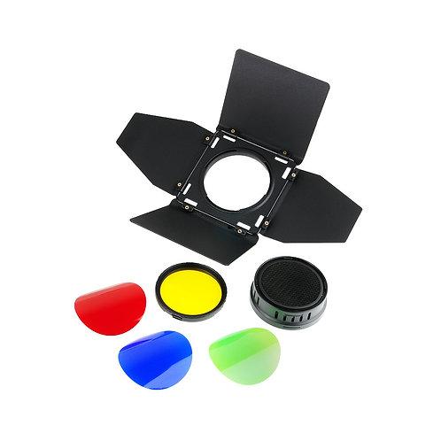Шторки с набором фильтров Godox BD-08 для AD400Pro
