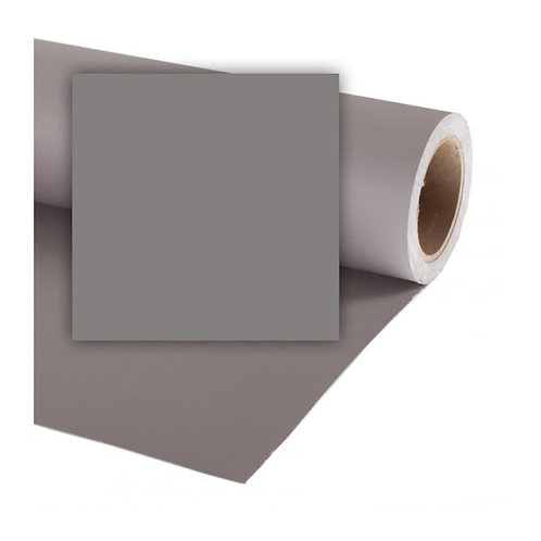 Бумажный фон Colorama 2,72 х 11 метров, цвет SMOKE GREY