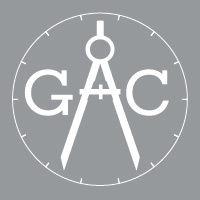 Gauge & Compass Logo - Square - White &