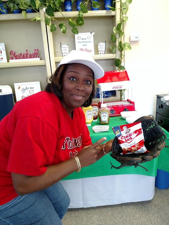 Woman holding Cracker Jacks