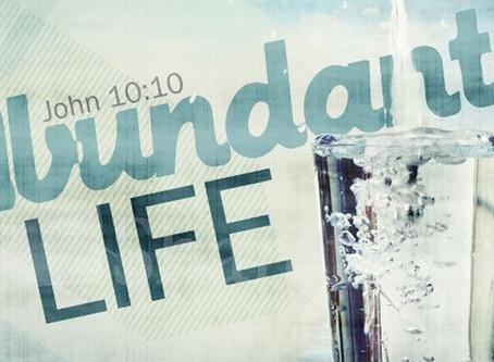 Abundant Life through sanctification