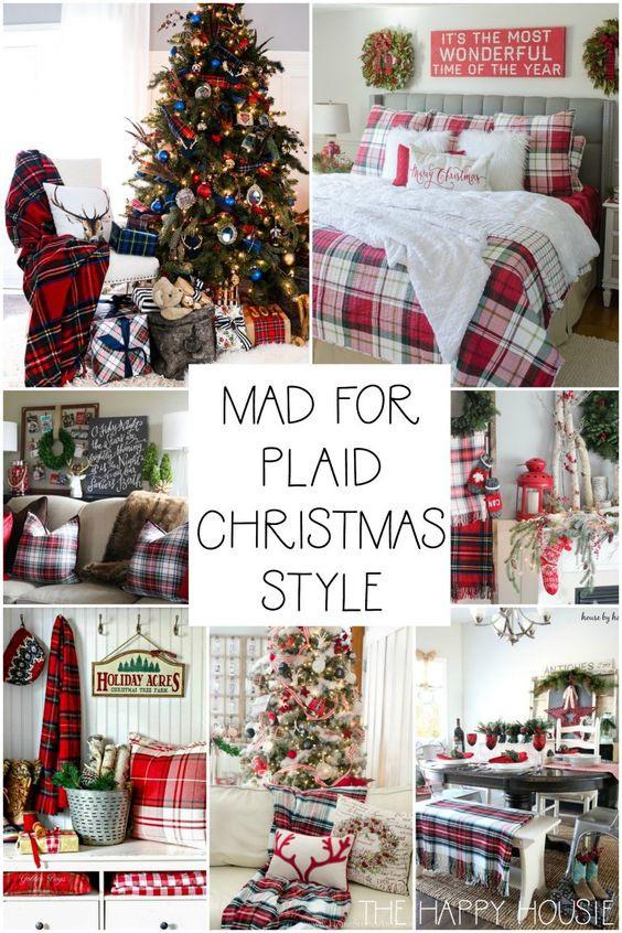 A plaid christmas decorating ideas