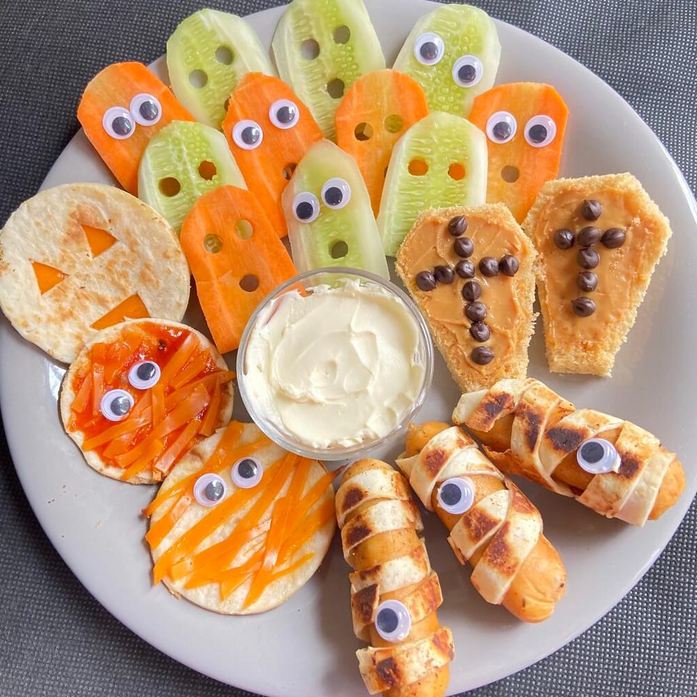 halloween snack board