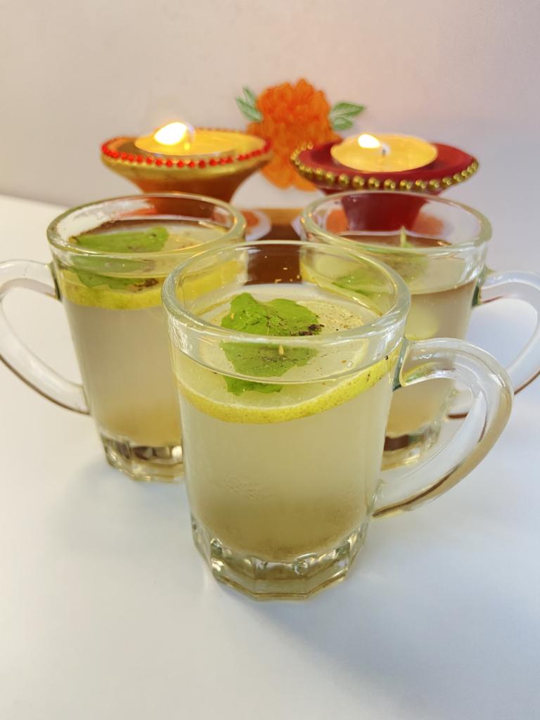 Masala lemon soda for Diwali drinks