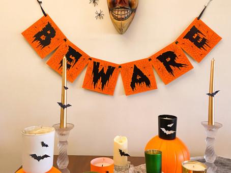 Halloween DIY Candle Table Decor