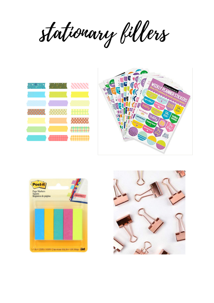 stationary advent calendar filler ideas