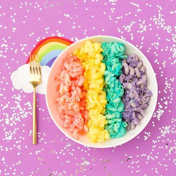 rainbow mac and cheese