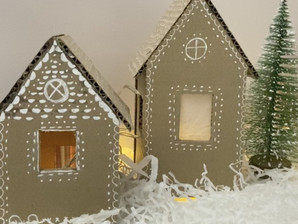 DIY Gingerbread House Village