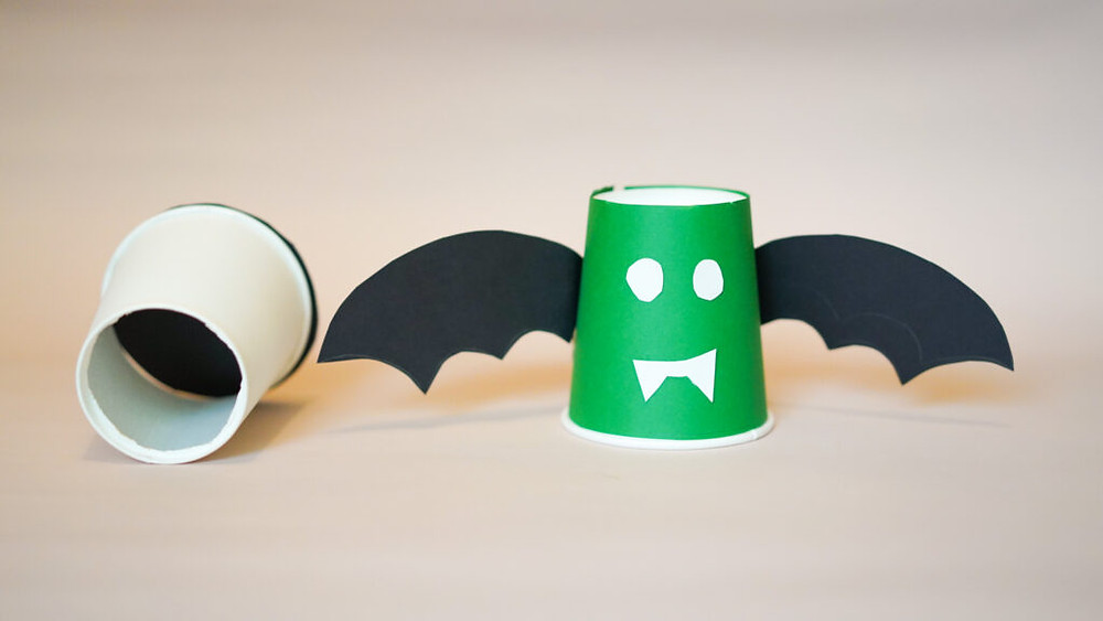 Vampire paper cup stationary holder