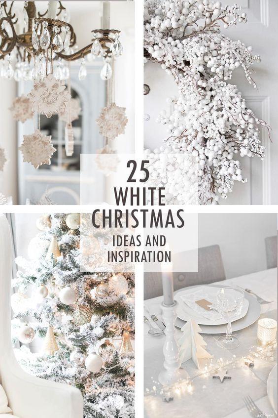 A white christmas decorating ideas