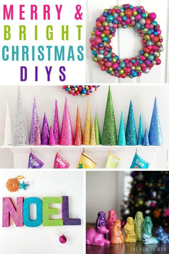 A rainbow christmas decorating ideas