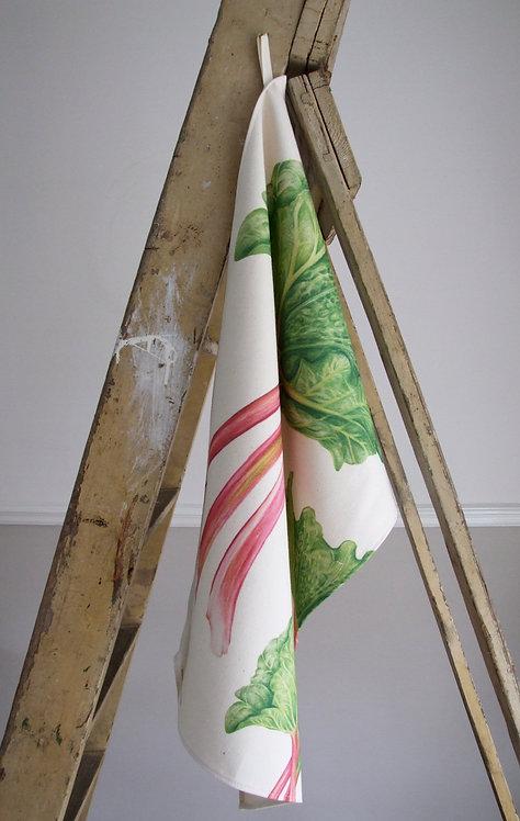 Rhubarb Tea Towel