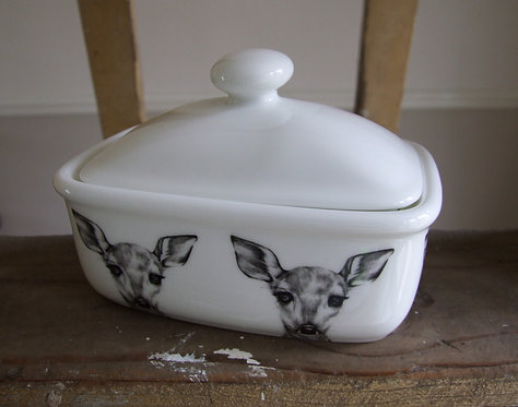 Clementine - Covered Butter Dish