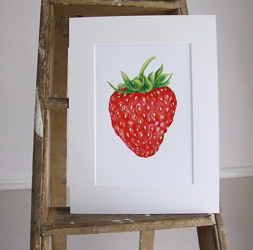 Strawberry - Mounted print - Med, Collectors Print
