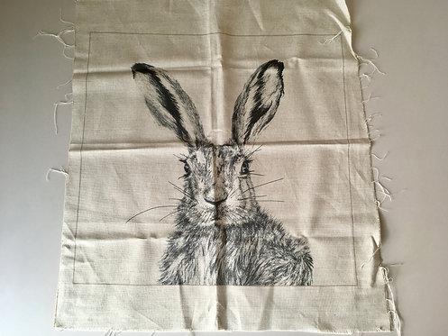 Clover cushion panel - natural linen