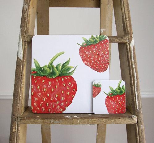 Strawberry Melamine Coaster