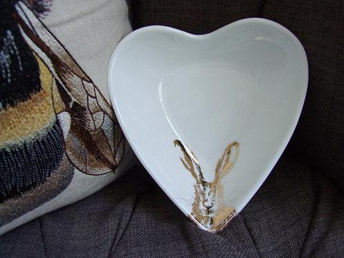 Clover Gold Heart Bowl - small