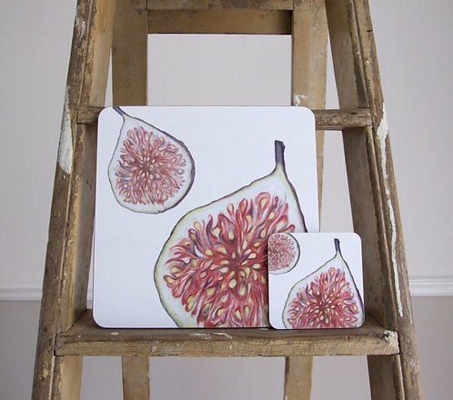 Fig Melamine Coaster