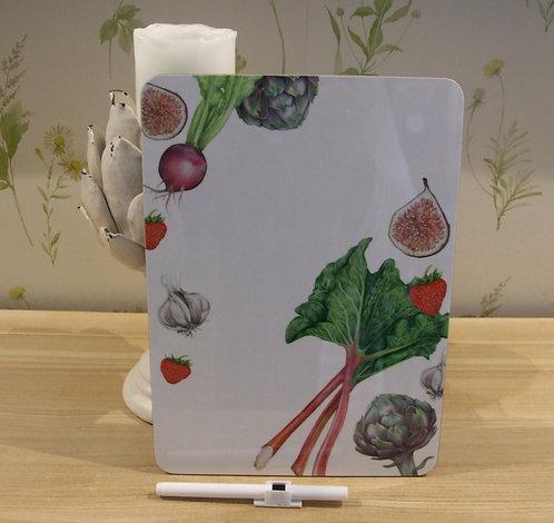Botanical memo board & pen (full magnetic back)