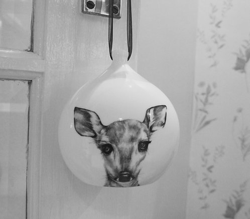 Clementine Large Fine Bone China Bauble SALE
