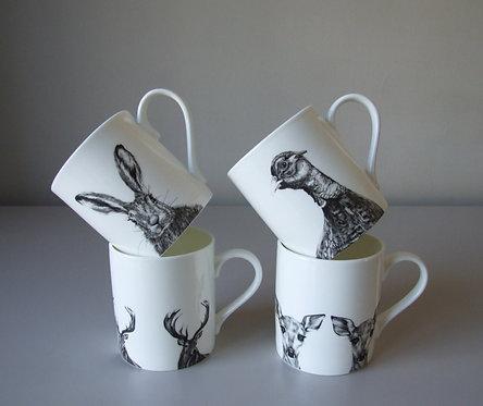 The Autumn Set - Fine Bone China Mugs x 4