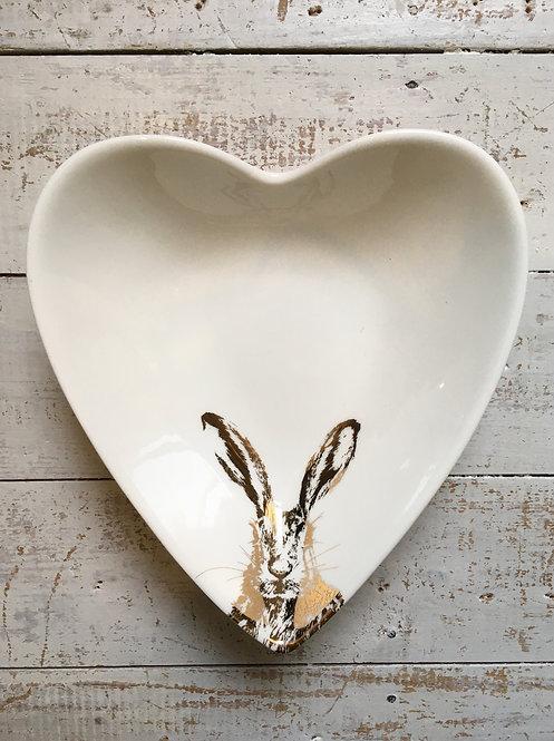 Slight second Clover Gold Heart Bowl - medium