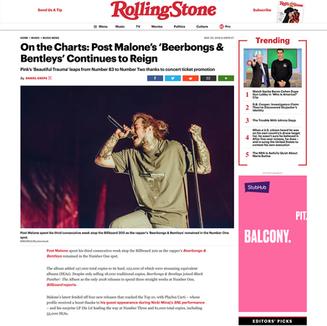 Photo: Post Malone on RollingStone.com