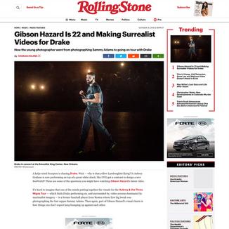 Photo: Drake on RollingStone.com