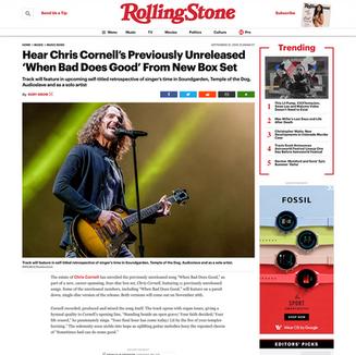Photo: Chris Cornell on RollingStone.com
