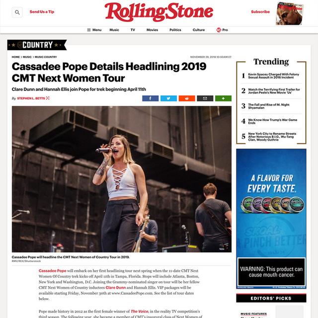 Photo: Cassadee Pope on RollingStone.com