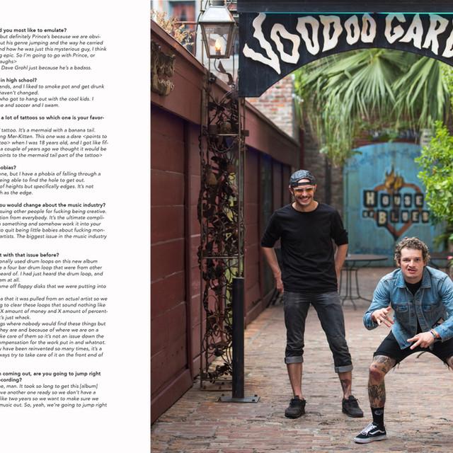 Photo + Interview: Cherub in DIME Entertainment Mag (Print)