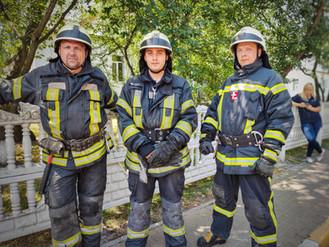 Продовжуються заняття для членів добровільної пожежної дружини Ірпеня