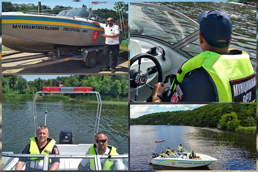 Муніципальний патруль в теплу пору року патрулює річкою Південний Буг.
