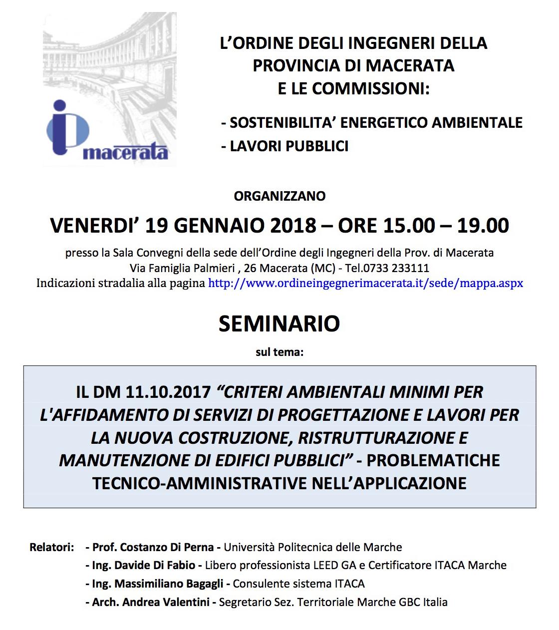 Seminario Macerata 2018