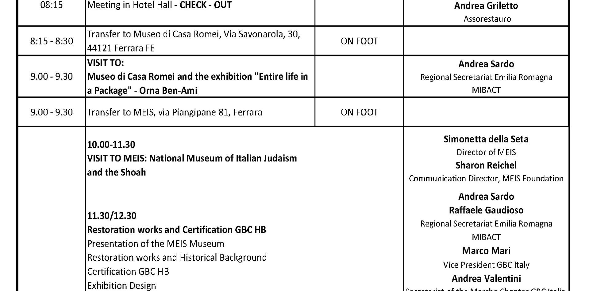 Convegno Fondazione MEIS ASSORESTAURO GBC ITALIA