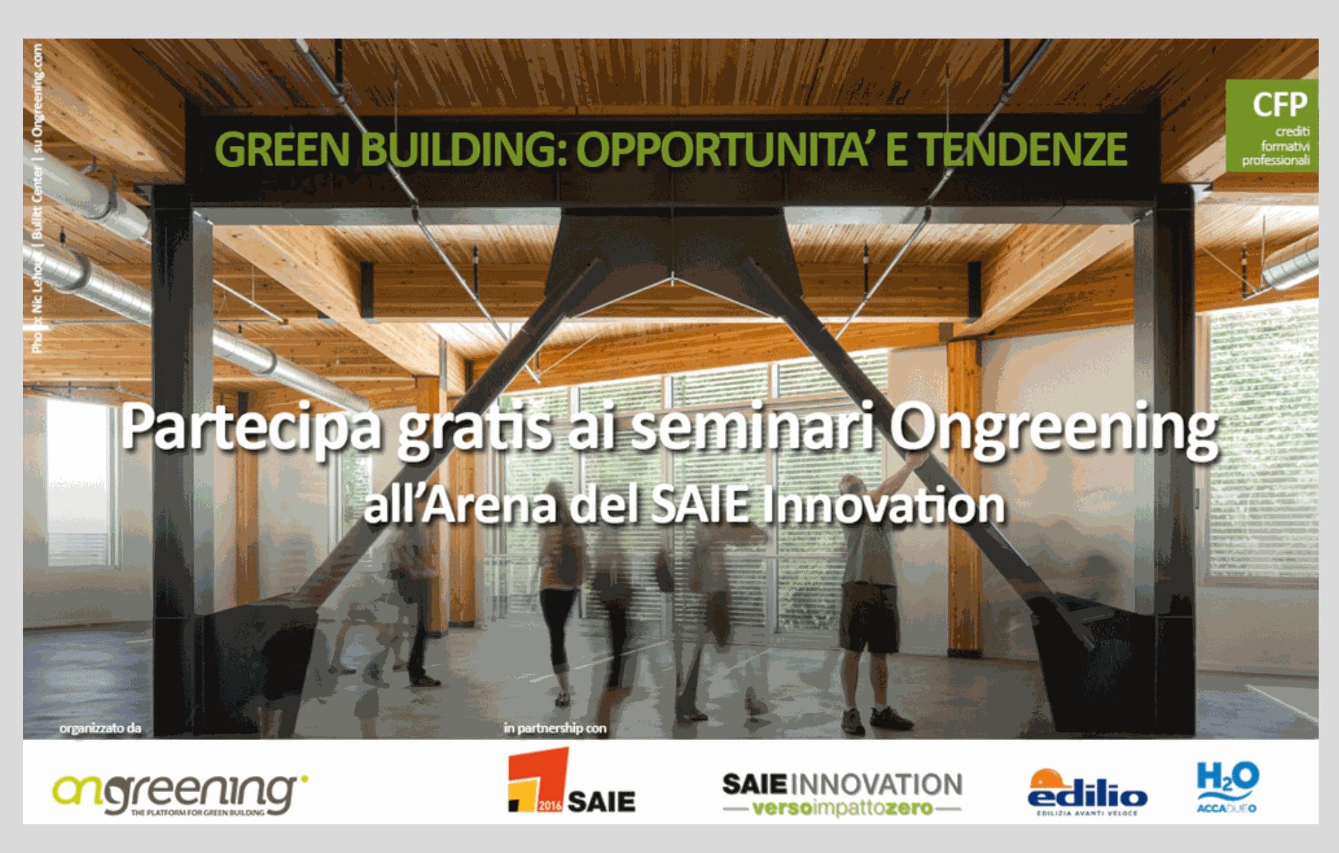 SAIE e Ongreening 2016