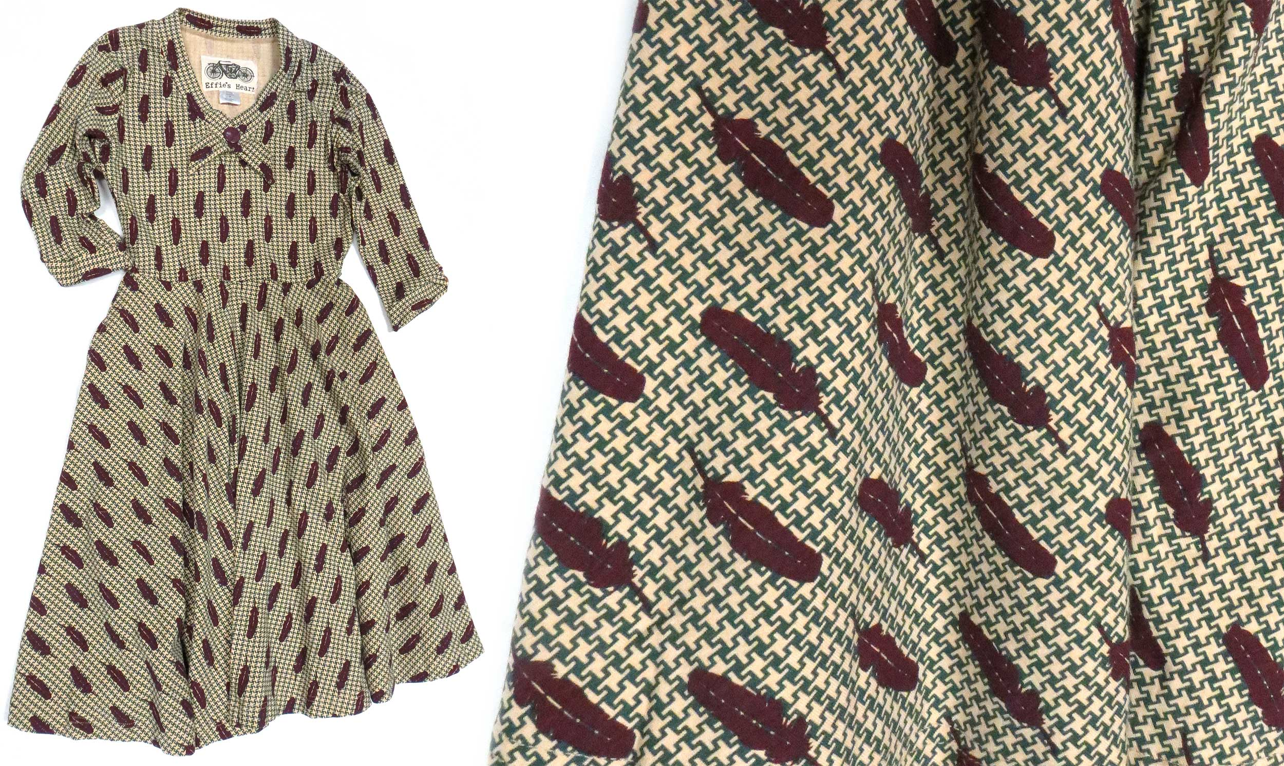 Feather & Houndstooth Dress