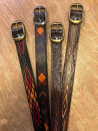 Hand-Tooled Southwestern Style Belts