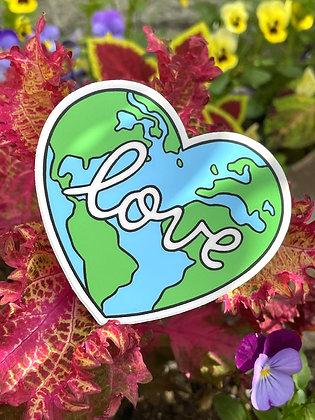 "Earth ""Love"" Vinyl Sticker"