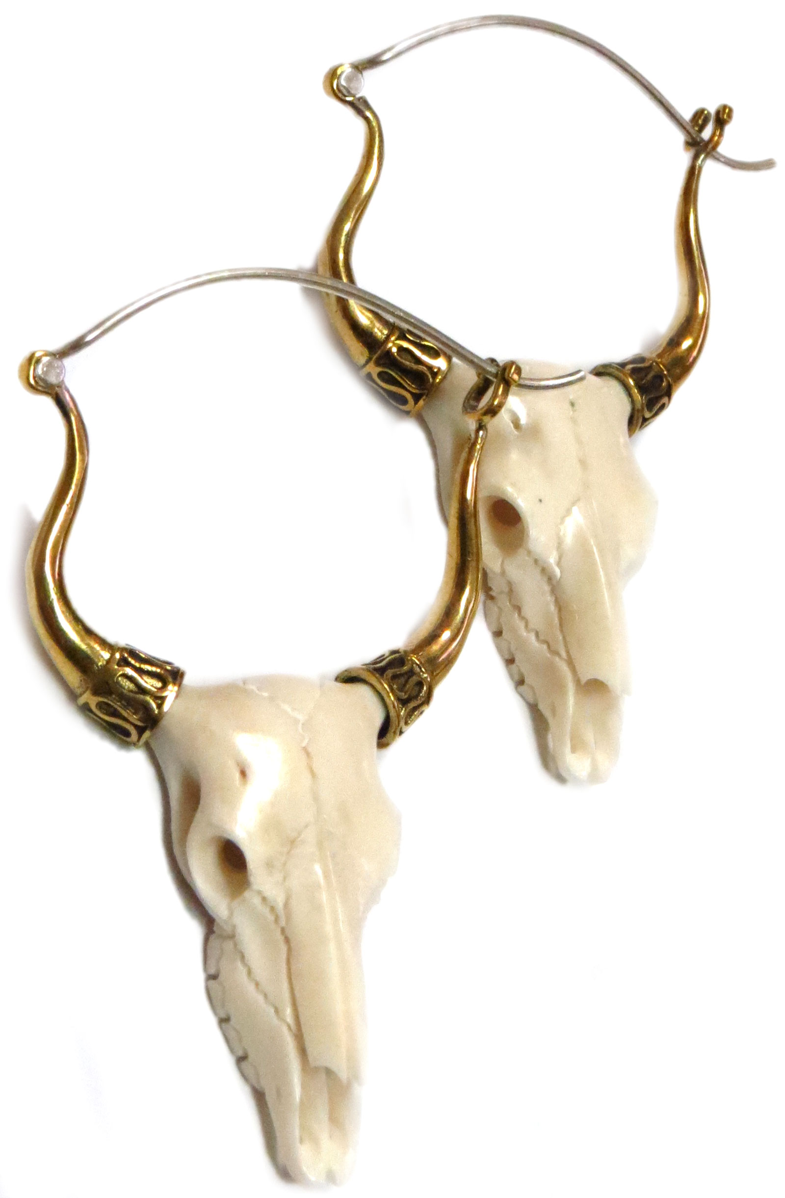 Steer Skull Earrings