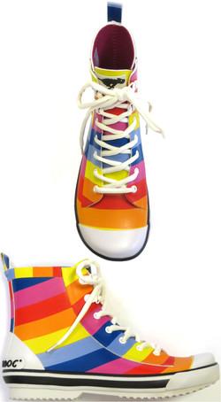 Rainbow Rain Boots