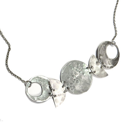 NEW Silver Moon Phase Necklace