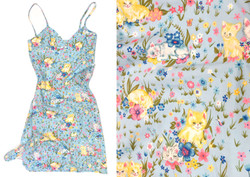 Kitten Print Sun Dress