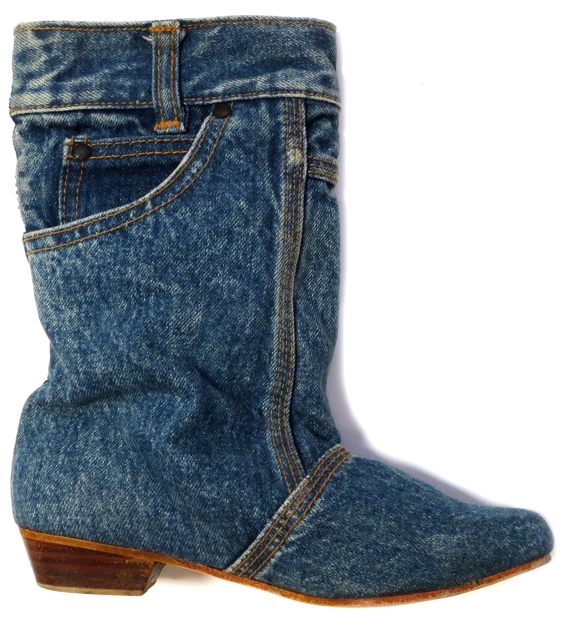 '80s Denim Scrunch Boot