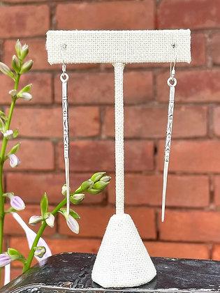 Stamped Sterling Silver Dagger Earrings