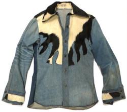 '70s Cowhide Western Shirt