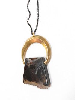 Agate Slice Statement Necklace