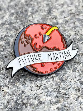 """Future Martian"" Mars Enamel Pin"