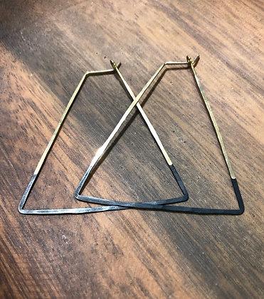 NEW Triangle Hoop Earrings