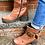Thumbnail: Dromedaris Chunky Leather Boots ~ Size 7.5